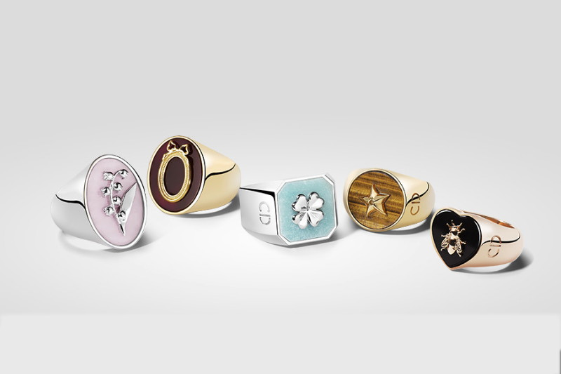 Lucky Dior Signet Rings, jewelry