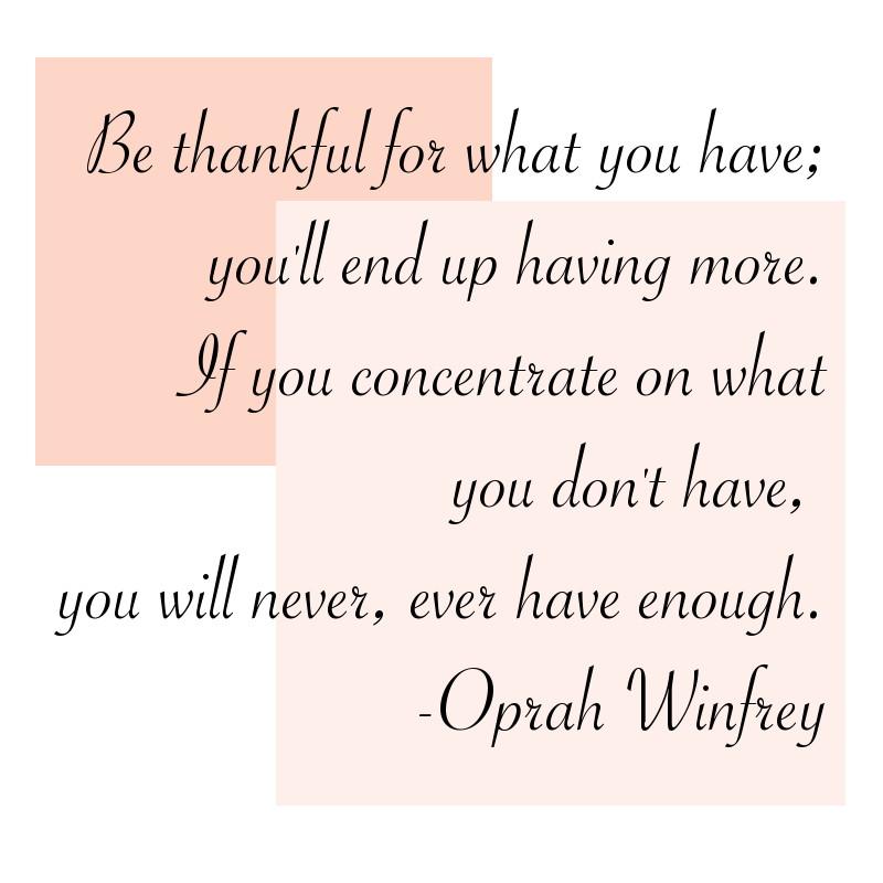 Thanksgiving quote, oprah