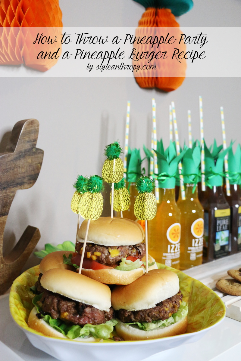 How to Throw a Pineapple Party by STYLEanthropy