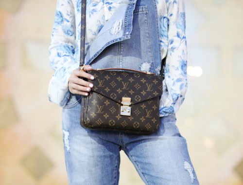 Denim Overalls, Louis Vuitton Pochette Metis