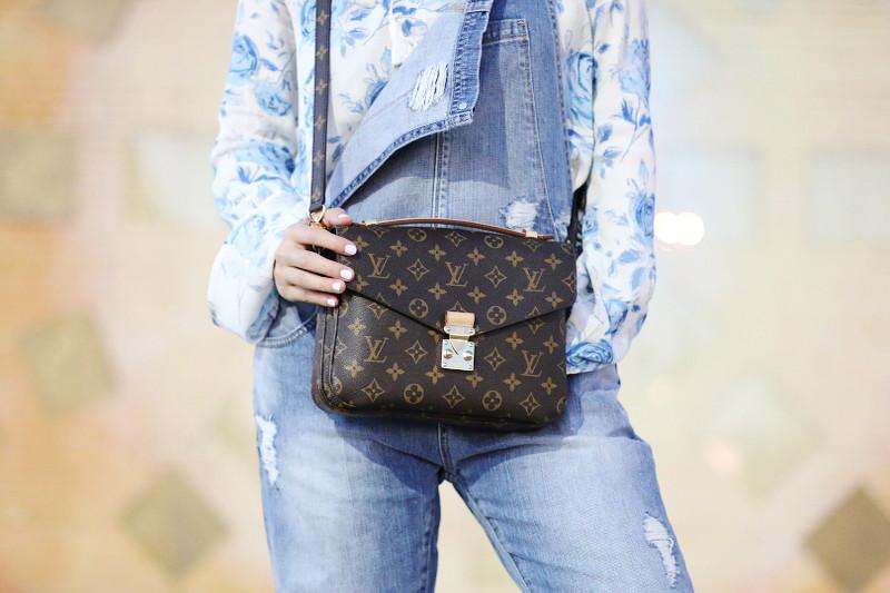 Denim Overalls, Louis Vuitton Pochette Metis