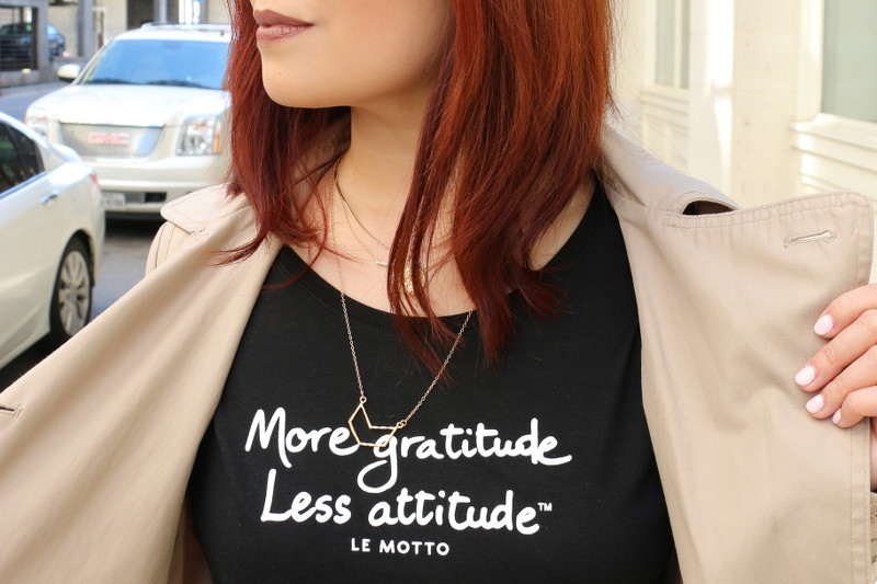 More Gratitude Less Attitude, shirt, le motto, tee