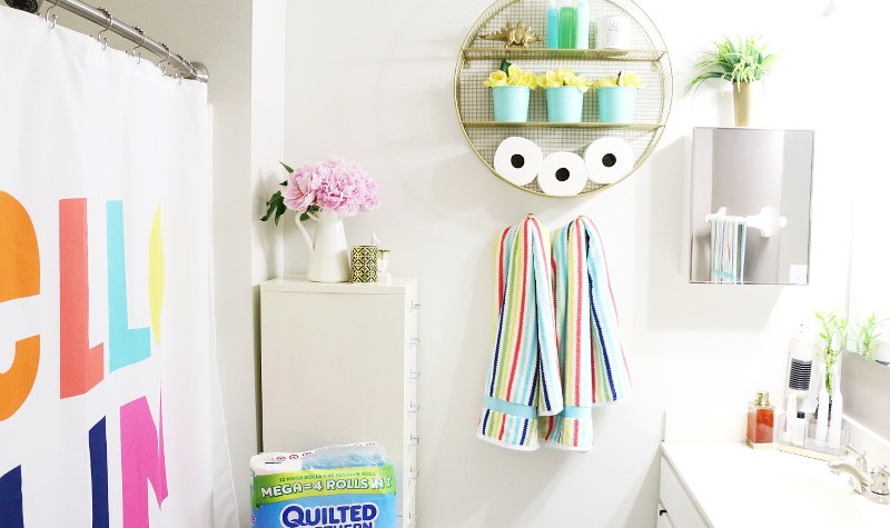 bathroom refresh, summer refresh, bathroom update