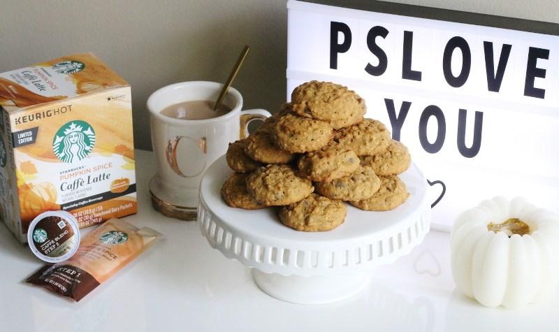 Starbucks Pumpkin Spice Caffe Latte, Pumpkin Oatmeal Chocolate Chip Cookies