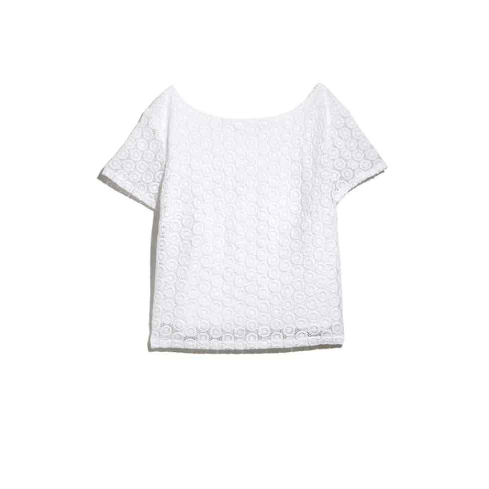 CROCHET CROP TOP - WHITE $32