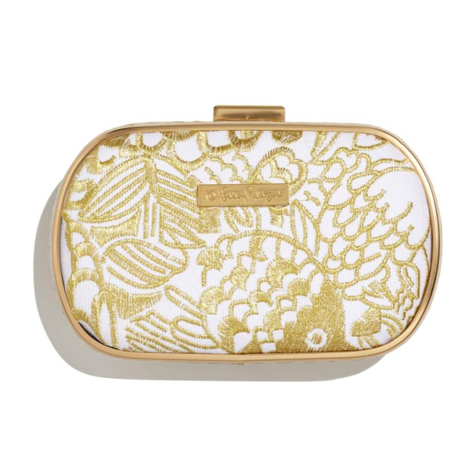 EMBROIDERED CLUTCH - GOLD $24