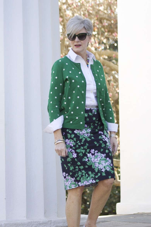florals and polka dots