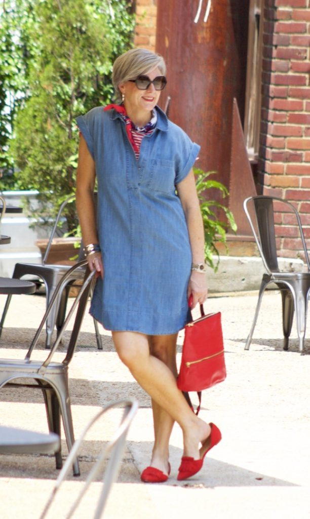 j.crew denim dress