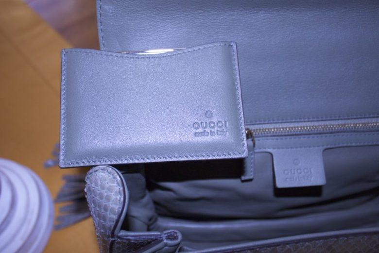 gucci python handbag with bamboo handles