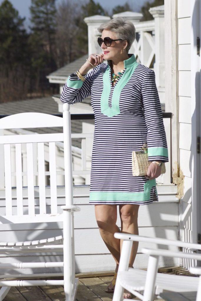 sail to sable dress striped tunic