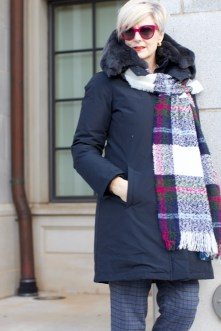 Bloomingdales cold weather outerwear with Woolrich
