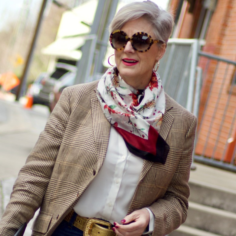 beth from Style at a Certain Age wears items from Rachel Zoe's Spring Box of Style
