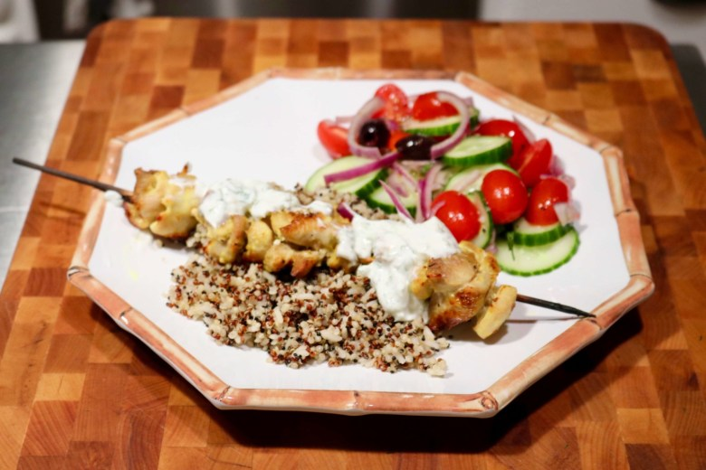 chicken tzatziki bowl
