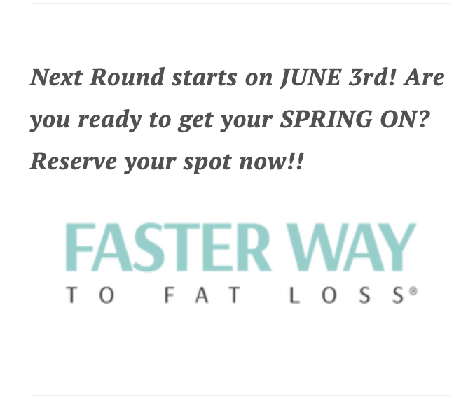 lose weight the FASTer Way