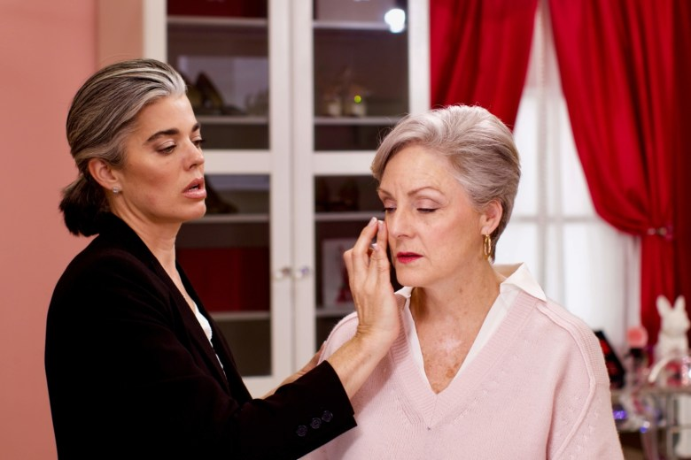 makeup application for over 60
