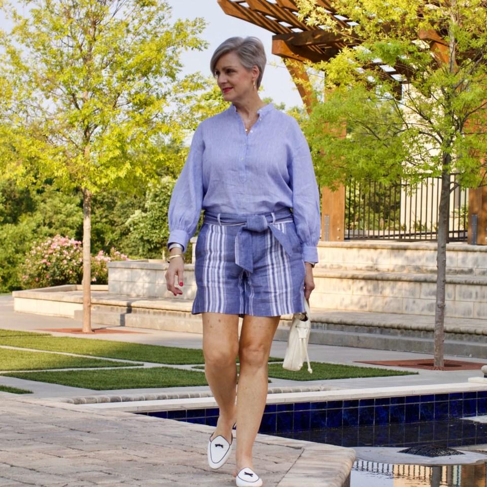 lightweight linen shirt and shorts