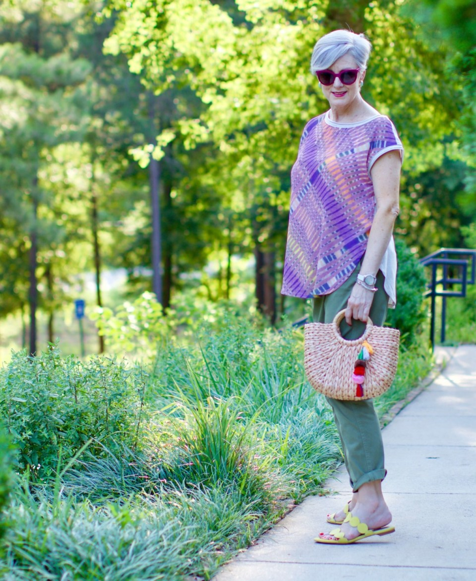 tunic and chinos