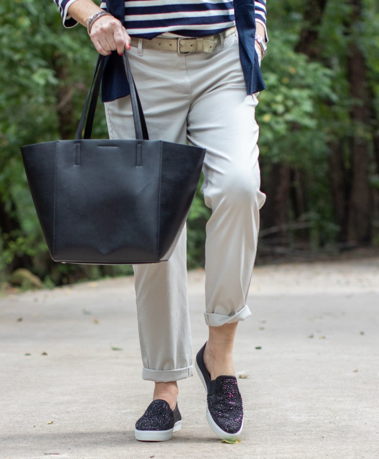 classic stripes and chinos