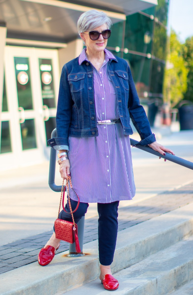 how to wear a shirtdress in the fall