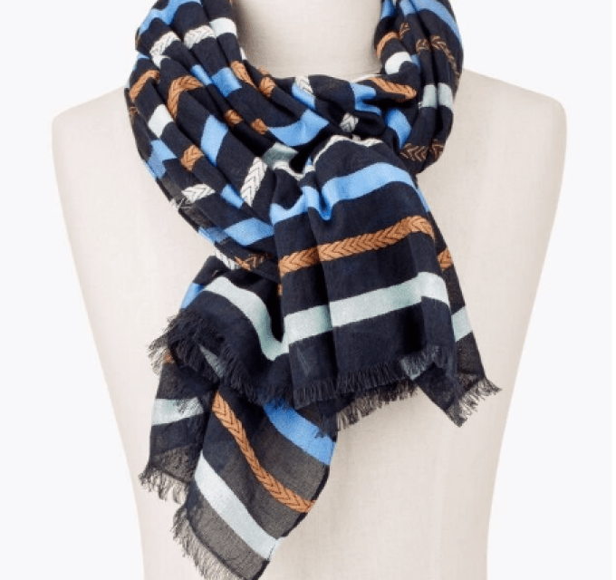 Braid Stripe Scarf