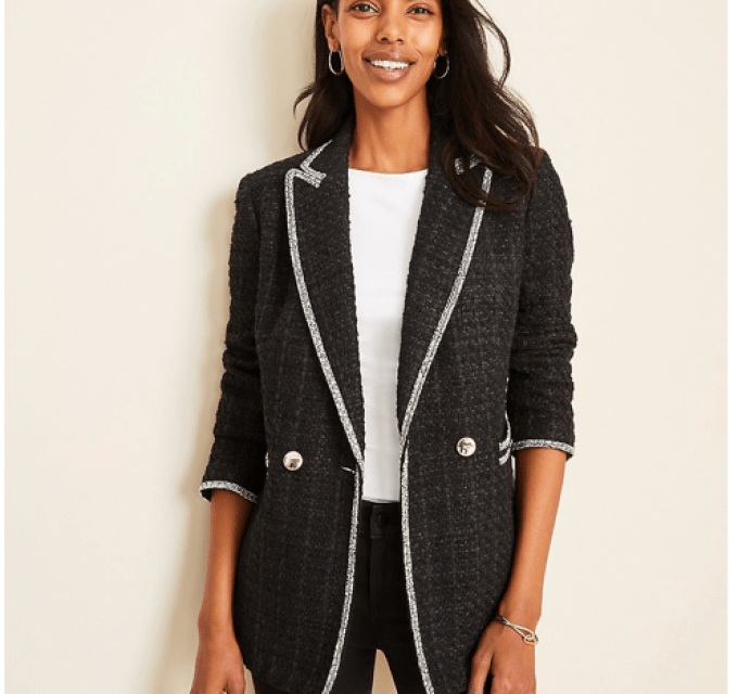 Tweed Pocket Blazer