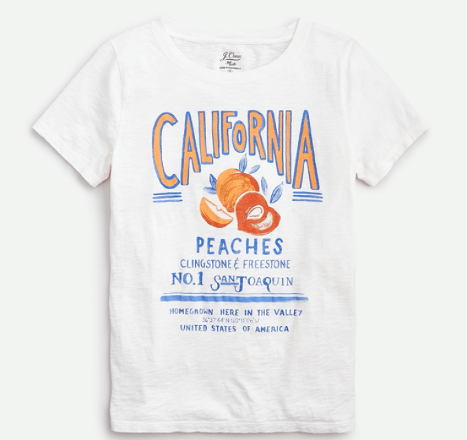California Peaches Tee