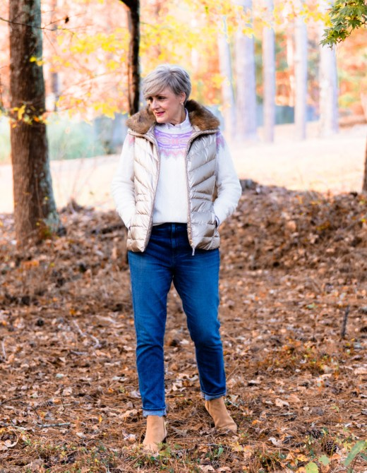 perfectly preppy puffer vest