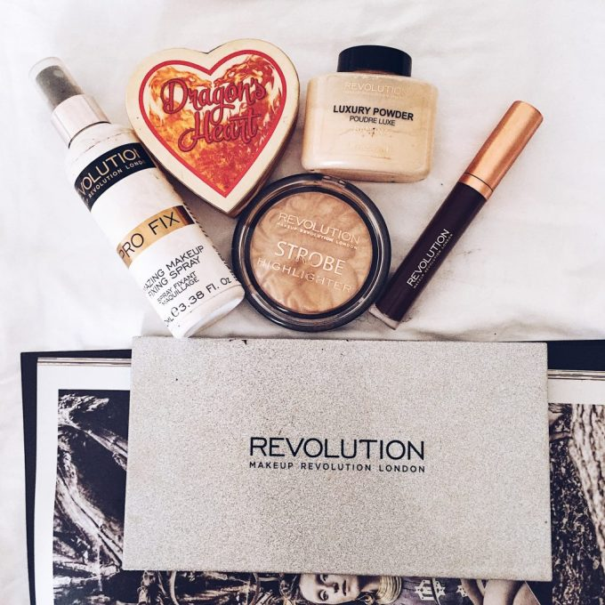 Makeup revolution flatlay