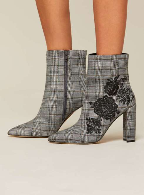 Plaid boots from Miss Selfridged