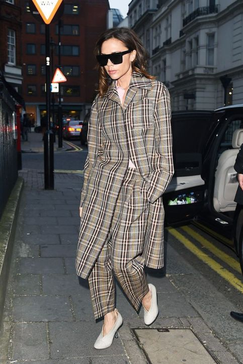 Victoria Beckham in Plaid