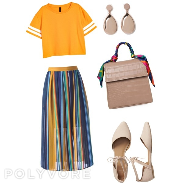 Bold Colours with nude accessories
