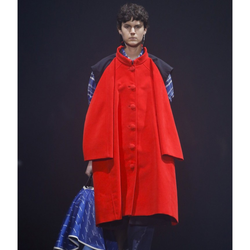 Balenciaga bold colors runway