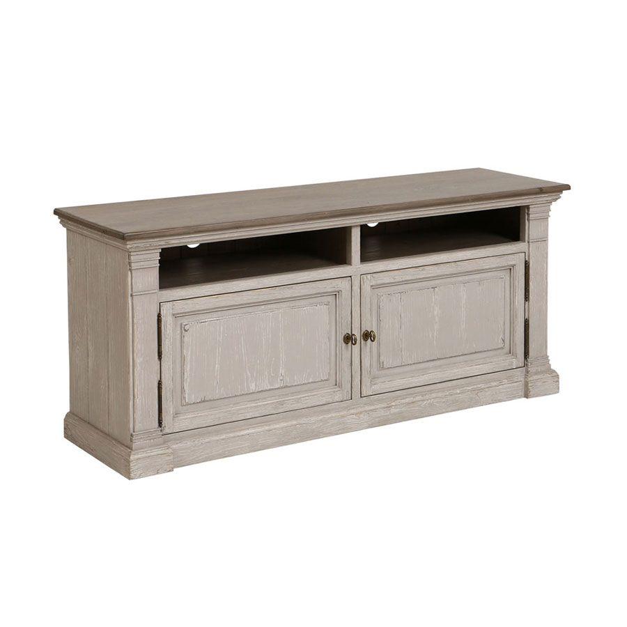 meuble tv amboise bois gris tourterelle