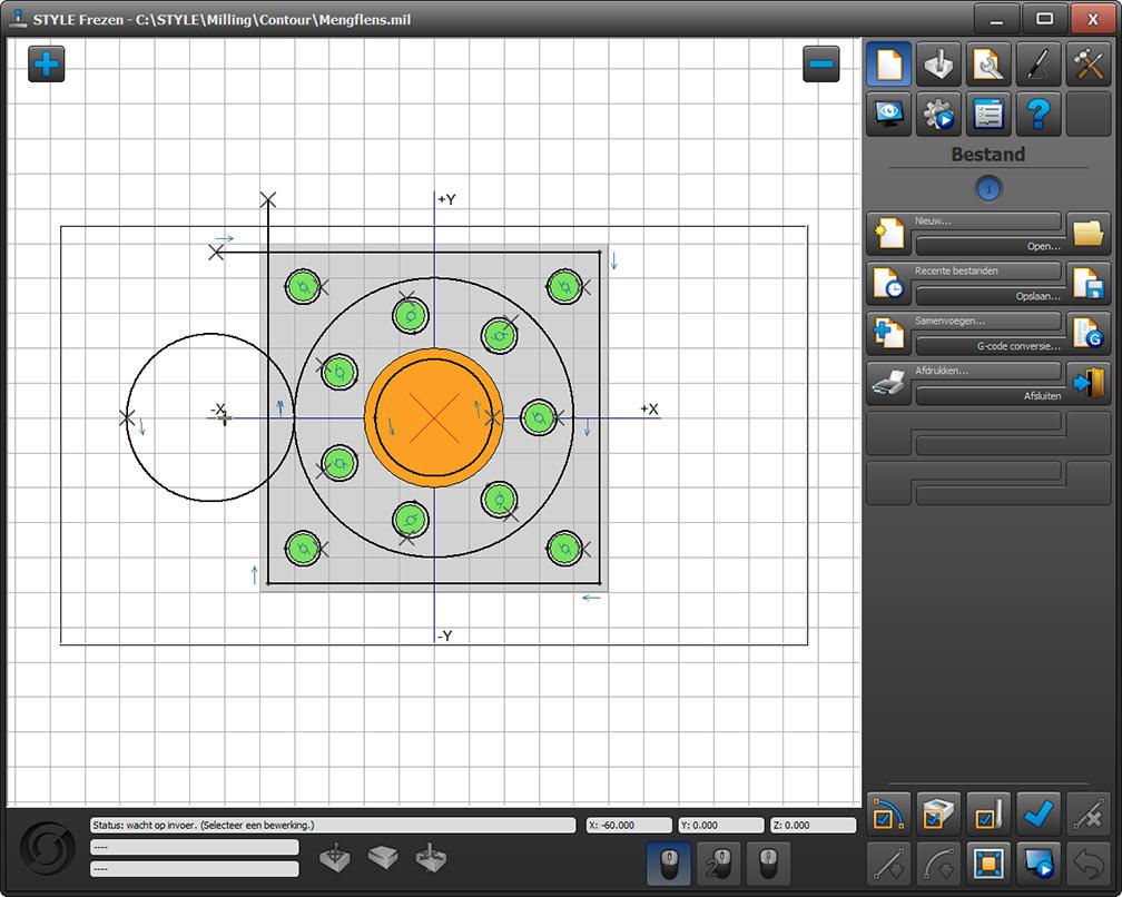 mixing flange simulation control