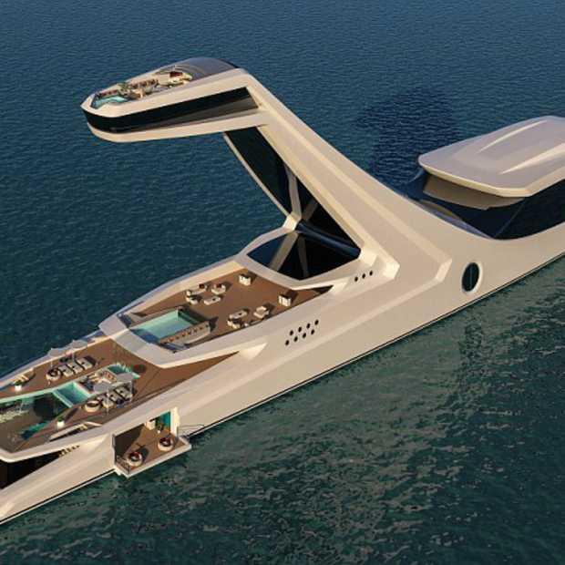 Superdeluxe Jacht Met Een Infinity Pool Op 38 Meter Hoogte