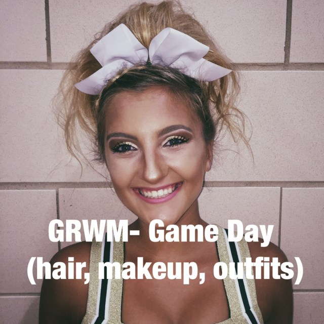 Grwm Game Day Hair Makeup Outfit Styled By Mckenz Today i'm getting ready for coachella 2018 and showing you guys my outfits, hair, makeup, and essentials you need to pack if you're going!! styled by mckenz