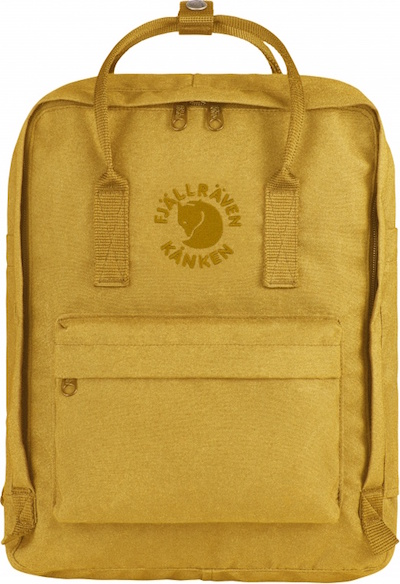 Re-Kånken in sunflower yellow, $130, Fjällräven