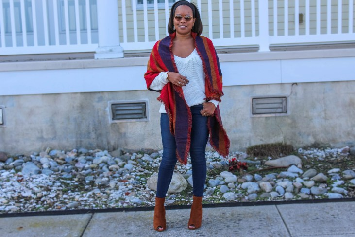 This scarf....and these booties though...