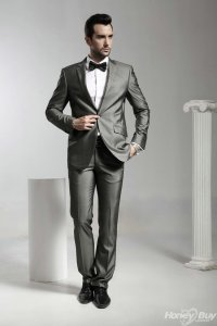 The gallery for --> Grey Suit Bow Tie Combinations