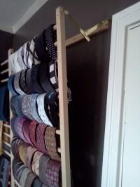 Wall Mounted Tie Rack