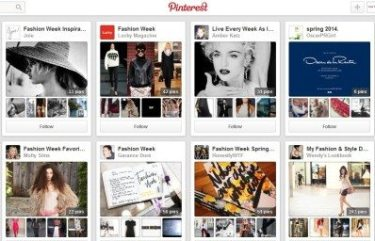 Pinterest Fashion Week Hub