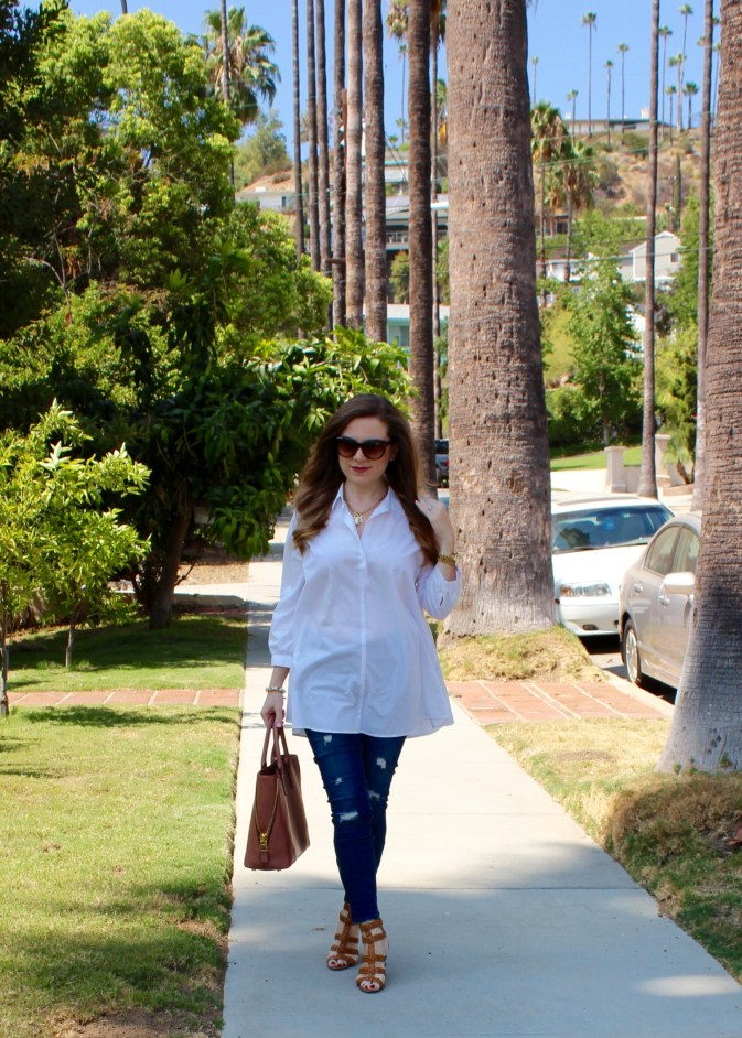 Skinny Jeans Tunic Top