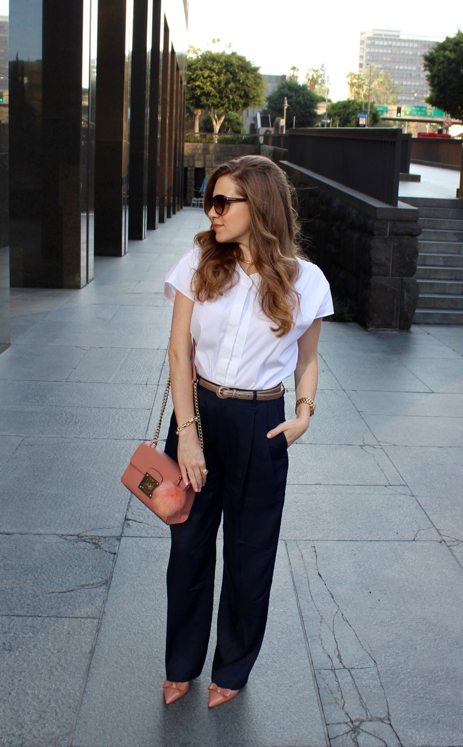 White Buttondown_Navy Pants_4