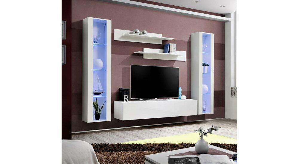 stylefy fli a ii ensemble tv mural blanc