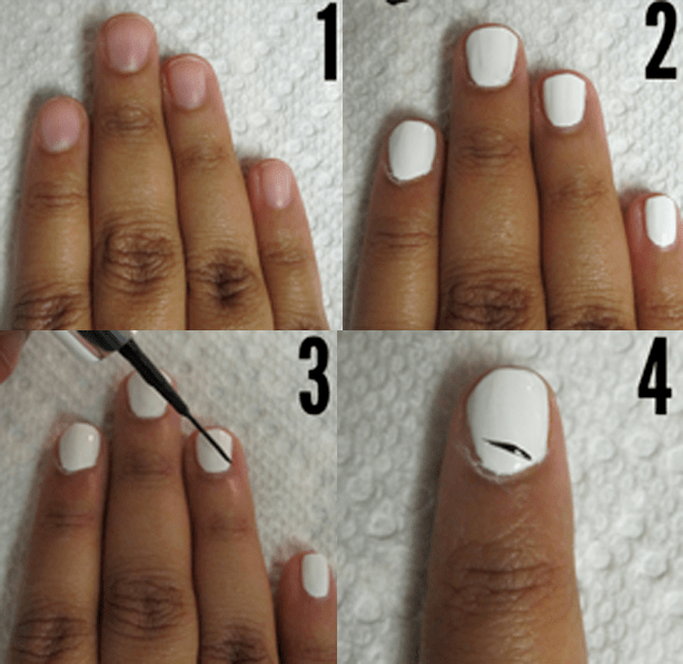 How To Paint Zebra Stripes On Nails At Home Without Nail Equipment
