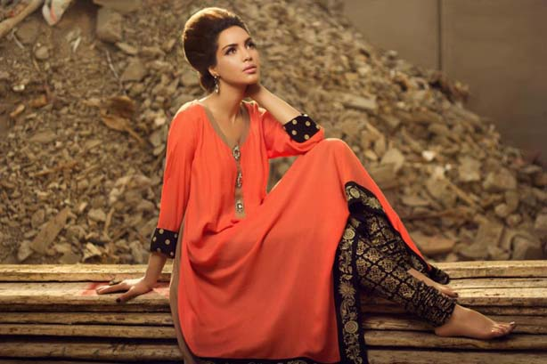 Pakistani Summer 2017 Tops And Tights Collection For Girls