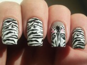 zebra print nails step