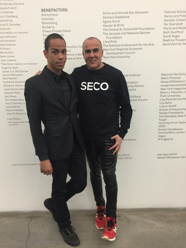 Before the show with Ricardo Seco.