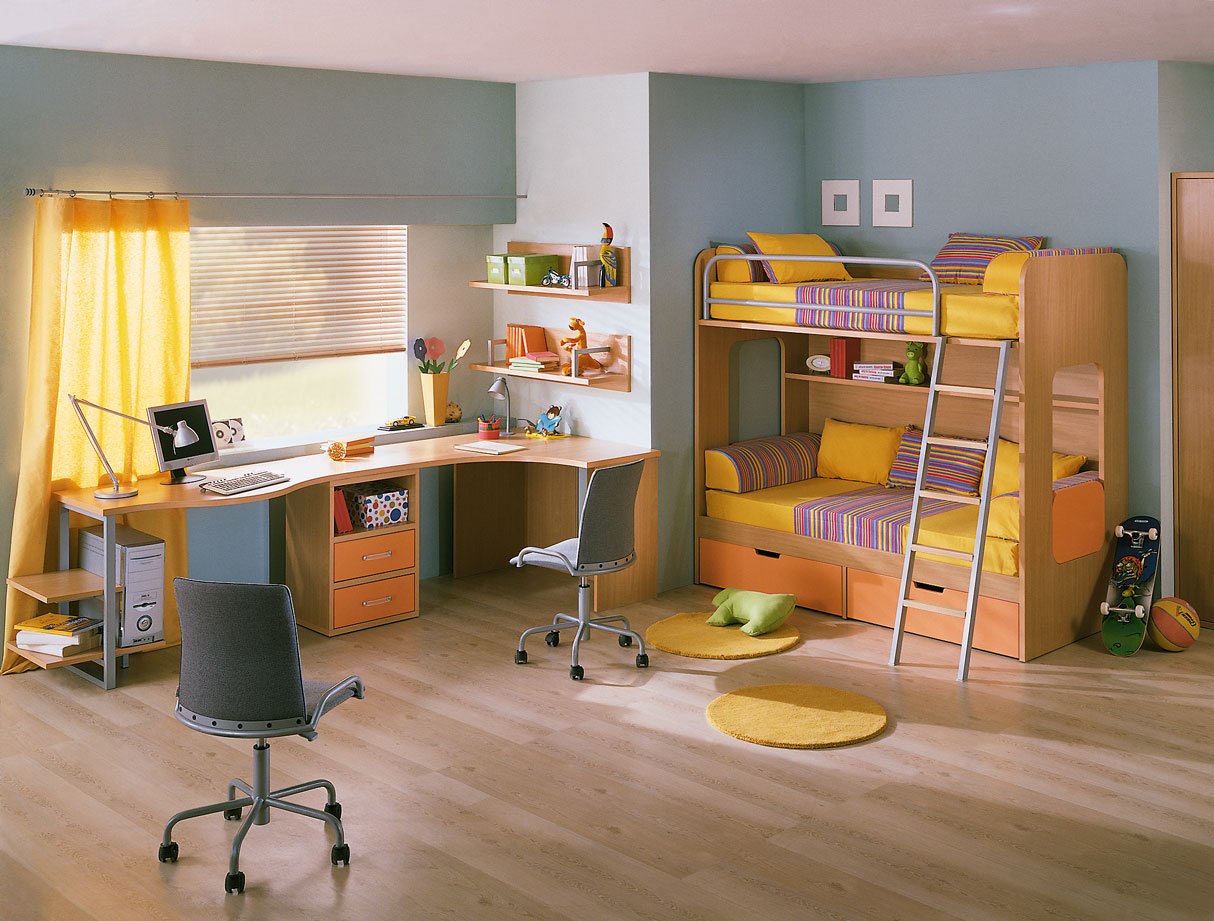 Kids Room with Study Table  StyleHomesnet