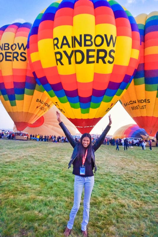 Open arms balloon